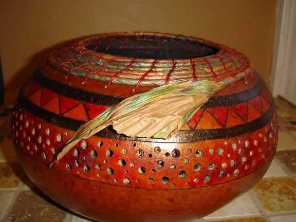 Gourd And Pine Needle Basket Gallery
